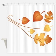 Falling Autumn Leaves Shower Curtain
