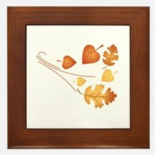 Falling Autumn Leaves Framed Tile