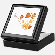 Falling Autumn Leaves Keepsake Box