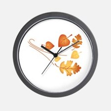 Falling Autumn Leaves Wall Clock