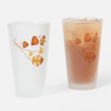 Falling Autumn Leaves Drinking Glass