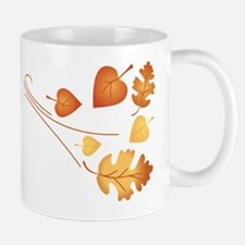 Falling Autumn Leaves Mugs