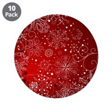 "SNOWFLAKES (RED) 3.5"" Button (10 pack)"