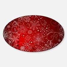 SNOWFLAKES (RED) Decal