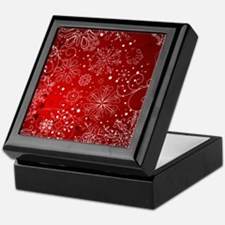 SNOWFLAKES (RED) Keepsake Box