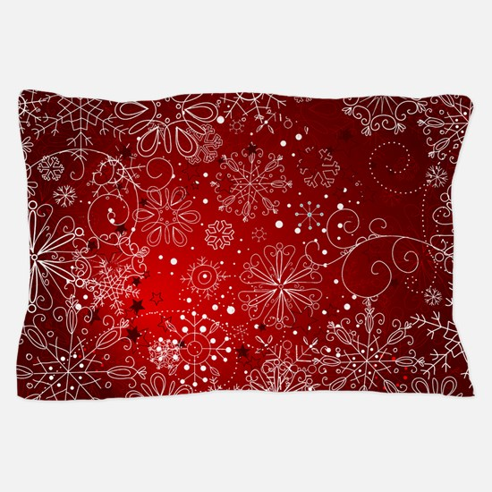 SNOWFLAKES (RED) Pillow Case