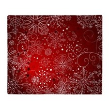 SNOWFLAKES (RED) Throw Blanket