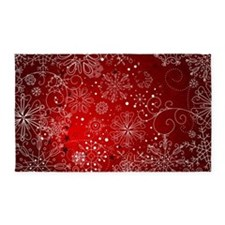 SNOWFLAKES (RED) 3'x5' Area Rug