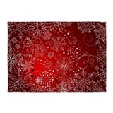 Christmas snowflakes pattern 5x7 Rugs