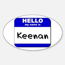 hello my name is keenan Oval Decal