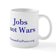 Jobs Not Wars Mug