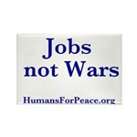 Jobs Not Wars Rectangle Magnet