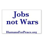 Jobs Not Wars Sticker (Rectangle 10 pk)
