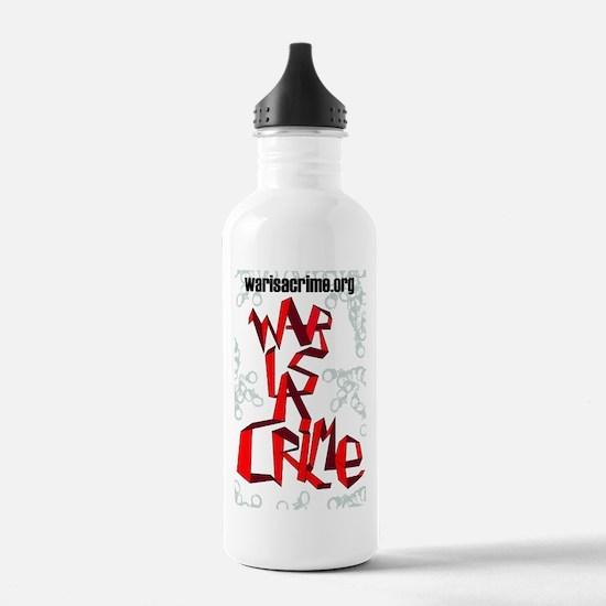 War Is A Crime Water Bottle