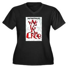 War Is A Crime Women's Plus Size V-Neck Dark T-Shi