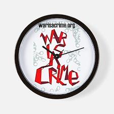 War Is A Crime Wall Clock