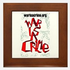 War Is A Crime Framed Tile