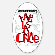 War Is A Crime Decal