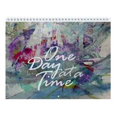 One Day At A Time Abstract Wall Calendar