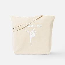 Custom Rhythmic Gymnastics Silhouette Tote Bag