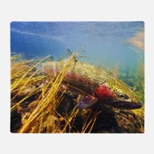 Rainbow Trout - Fly Fishing Throw Blanket
