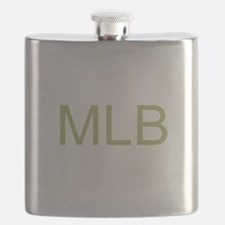 Gold Initials Flask