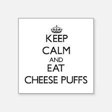 Keep calm and eat Cheese Puffs Sticker