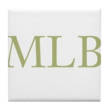 Gold Initials Tile Coaster