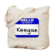 hello my name is keegan Tote Bag
