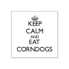Keep calm and eat Corndogs Sticker