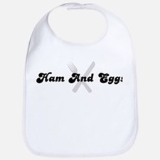 Ham And Eggs (fork and knife) Bib