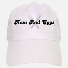 Ham And Eggs (fork and knife) Baseball Baseball Cap