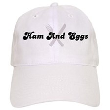 Ham And Eggs (fork and knife) Baseball Cap