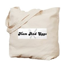Ham And Eggs (fork and knife) Tote Bag