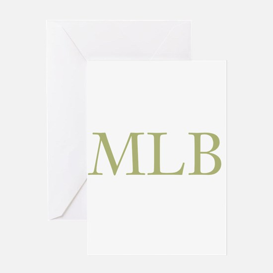 Gold Initials Greeting Cards