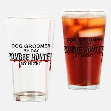Zombie Hunter - Dog Groomer Drinking Glass