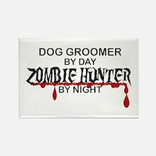 Zombie Hunter - Dog Groomer Rectangle Magnet