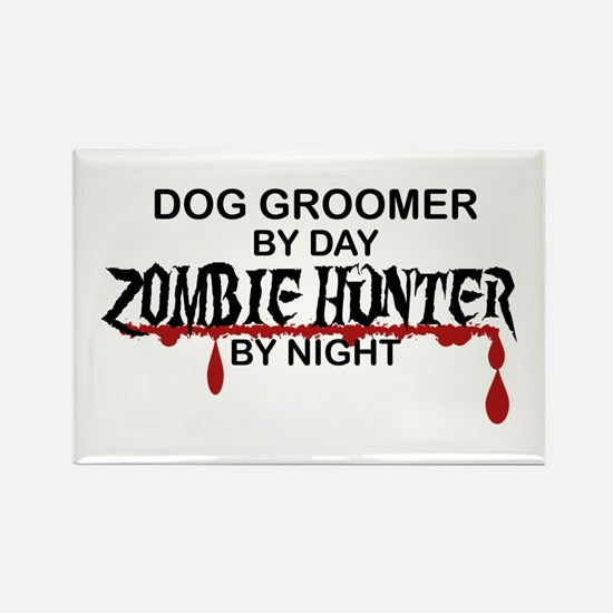 Zombie Hunter - Dog Groomer Rectangle Magnet