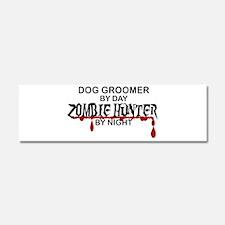 Zombie Hunter - Dog Groomer Car Magnet 10 x 3