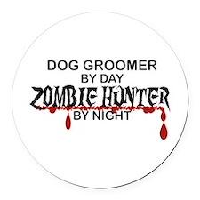 Zombie Hunter - Dog Groomer Round Car Magnet