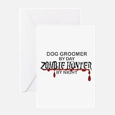Zombie Hunter - Dog Groomer Greeting Card