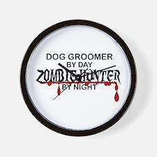 Zombie Hunter - Dog Groomer Wall Clock