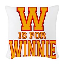 W is for Winnie Woven Throw Pillow