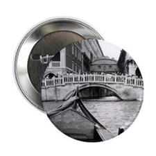 "Romantic Gondola Ride on Venice Canal 2.25"" Button"
