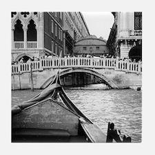Romantic Gondola Ride on Venice Canal Tile Coaster