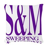 4-3-S&M.png Woven Throw Pillow