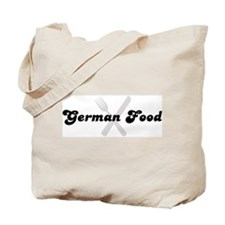 German Food (fork and knife) Tote Bag