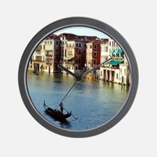 Venice Souvenir Gondola Ride on Grand C Wall Clock