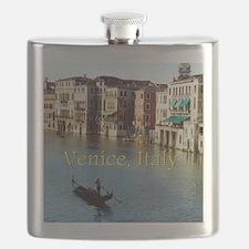 Venice Italy Souvenir Gondola Ride Photo Flask