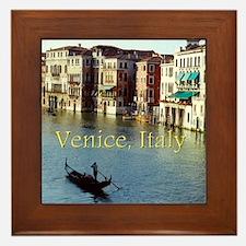Venice Italy Souvenir Gondola Ride Pho Framed Tile